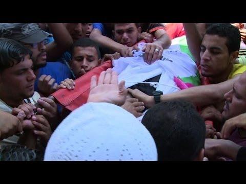 Gaza buries five Palestinians killed by Israeli air strike
