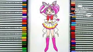 Vẽ Thủy thủ Mặt Trăng Chibiusa - How to draw Sailor Chibi Moon
