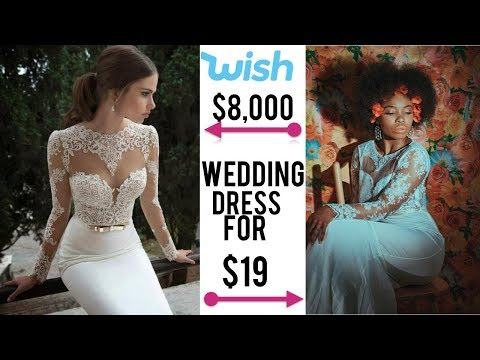 I'M ENGAGED and BOUGHT A $19 WEDDING DRESS FROM WISH (REVIEW)