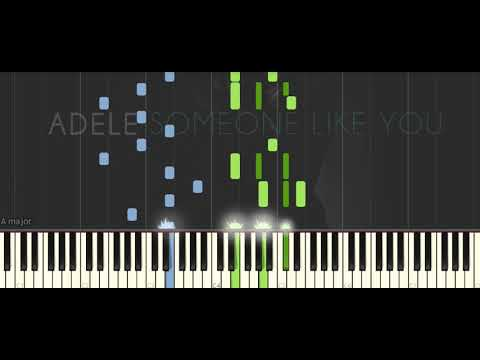 Adele Someone Like You Easy Piano Tuto (SYNTHESIA PROJECT)