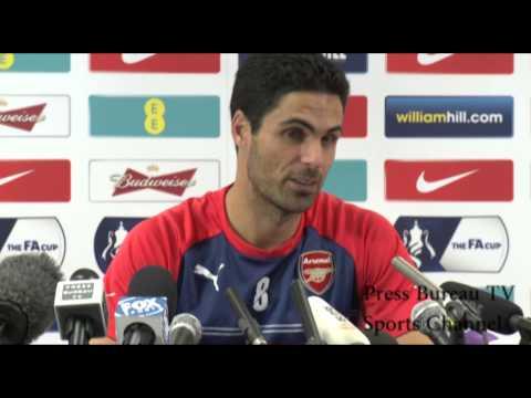 Mikel Arteta pre Arsenal vs Aston Villa FA CUP