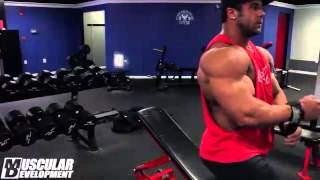 Jon Delarosa & Aaron Clark Train Chest 5 Weeks Out New York Pro 2013