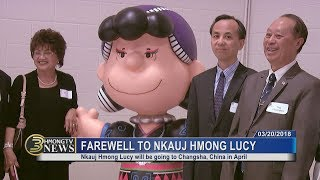 3 HMONG NEWS: BID FAREWELL TO NKAUJ HMONG LUCY AND THREE OTHER PEANUTS STATUES.