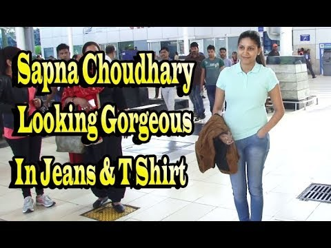 Sapna Chowdhary Looking Gorgeous In Jeans & T Shirt At Mumbai Airport Welcome to Official Youtube BollywoodKilla channel for the best videos from the world of entertainment. BollywoodKilla...