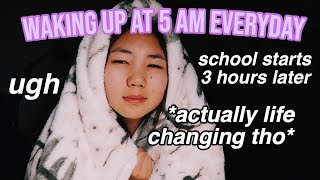 waking up at 5am EVERYDAY for a week *LIFE-CHANGING*