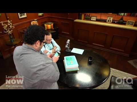 Josh Gad Helps Surprise Larry King With Cake | Larry King Now | Ora.TV