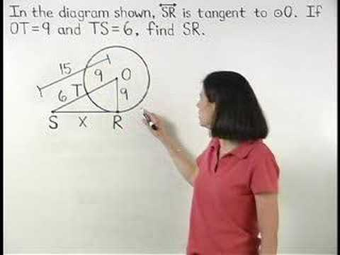 Tangents and Circles - YourTeacher.com - Geometry Help Video