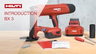 INTRODUCTION to Hilti battery-actuated fastening tool BX 3 nail selection