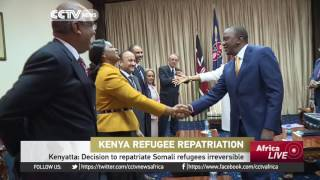 Kenya's President says decision to repatriate Somali refugees irreversible