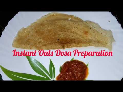 Instant Oats Dosa l Healthy Breakfast Oats Dosa l Oats Dosa for Weight Loss in Telugu