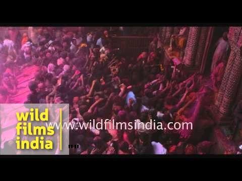 Holi festival in India - Slow motion