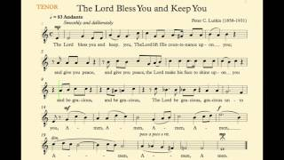 The Lord Bless You And Keep You Lutkin Tenor Rhythm Track