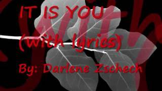 Watch Darlene Zschech It Is You video