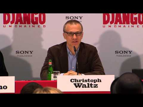 Django Unchained | PRESS TALK | Bonus | Berlin | Christoph Waltz | Jamie Foxx | Quentin Tarantino