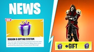 """*NEW* """"How To GIFT SKINS in Fortnite!"""" Gifting System Gameplay Showcase! (Fortnite Gifting Tutorial)"""