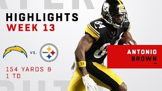 Antonio Brown's Big Night w/ 154 Yards & 1 TD vs. LAC
