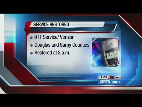 Verizon says service restored to 911 in Douglas, Sarpy counties