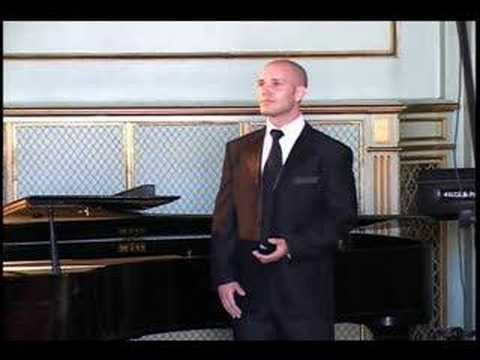 Nacht und Trume - Schubert - Zachary Gordin, baritone