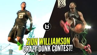 Zion Williamson CRAZY Behind The Back Dunk & More!! 16 Year Old The BEST Dunker In High School!?