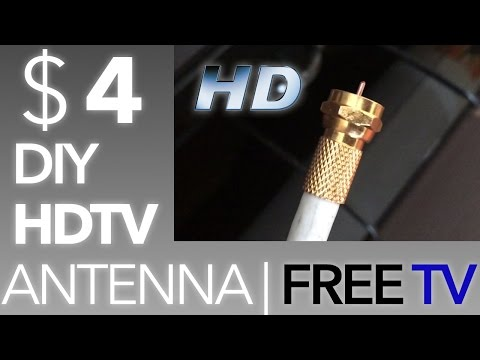 ✔ $4 DIY Antenna for HDTV ! FREE TV. NO CONTRACTS !