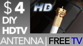 ✔ $4 DIY Best Antenna for HDTV 2017 ! FREE TV, NO CONTRACTS !