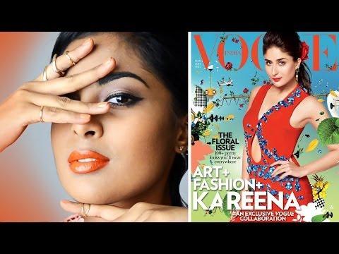 Orange Lips Tutorial - For Dark   Tan   Brown   Indian Skin, Inspired By Kareena Kapoor For Vogue video