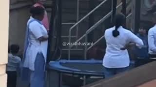 taimur ali khan playing with mom