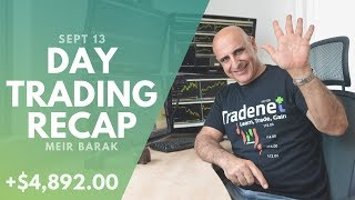 Day Trading Recap, Sept 13: 5 Green Trades, Close To $5K Earned!