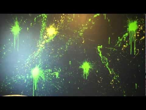 Paint Splatter Feature Wall