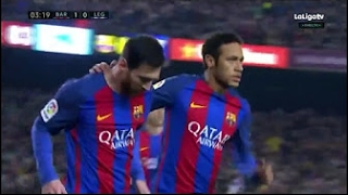 Lionel Messi Goal - Barcelona vs Leganes 1-0 - la Liga - 19/02/2017 HD