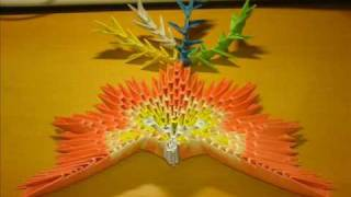 Origami 3d Tutorial - The Phoenix Step By Step (block Folding)