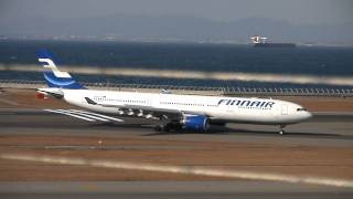Finnair Airbus A330-300 Crosswind Landing at Nagoya