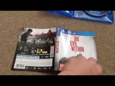 The evil within (Playstation 4) limited edition game exclusive unboxing