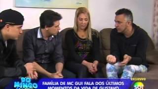 Domingo Legal (27/04/14) - MC Gui fala dos últimos momentos do irmão Gustavo - Parte 1
