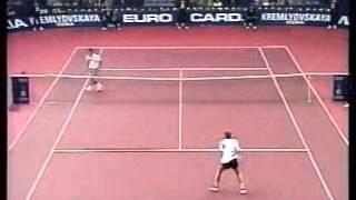 Pete Sampras great shots selection against Mark Woodforde (Essen 1995 3R)