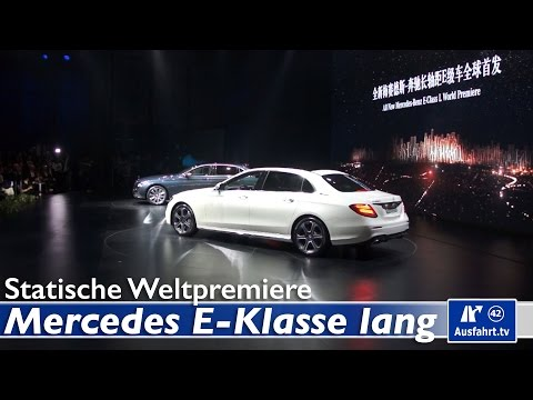 Weltpremiere 2016 Mercedes-Benz E-Klasse Langversion v213, Peking, China
