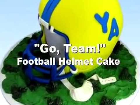 Football Helmet Cake How to Decorate NFL Helmet Cake Decorating Video Instructions Preview
