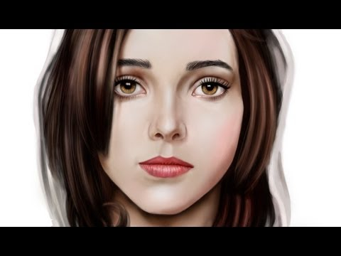 Digital portrait painting (Ellen Page)