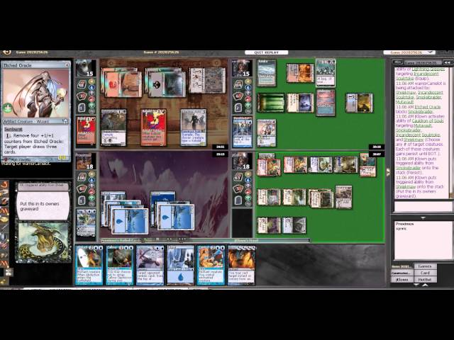 Magic the Gathering online game commentary