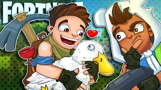 10 Year Old Connor and His Pet Duck! - Fortnite Battle Royale!