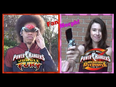 Jungle Fury Red & Operation Overdrive Pink (Power Rangers Fan Morph) *Retro Style / No VFX*