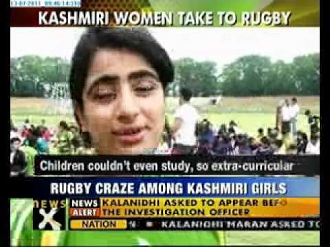 Kashmiri women take to Rugby