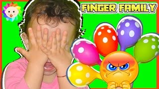 Real BABY Sad Learn COLORS w/ Balloons SONGS and Daddy Finger Family Song | Babies Nursery Rhymes #2