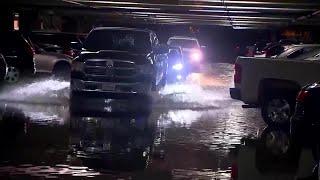 Flooding at Dallas Love Field Car Garage