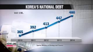 Korea's national debt grows sharply
