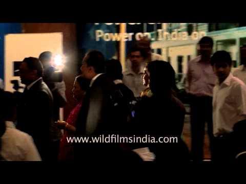 Anil Ambani arrives at the IPO listing ceremony of Reliance Power, Mumbai