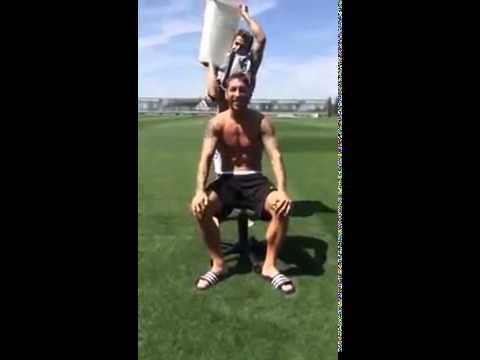 Sergio Ramos Ice Bucket Challenge ft. Cristiano Ronaldo - Nominates Banderas, Torres and Ancelotti