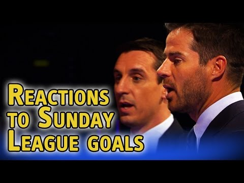 Gary Neville & Jamie Redknapp watch amazing Sunday League goals