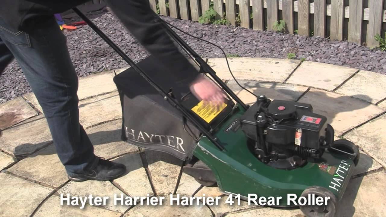 Hayter Harrier Petrol Lawnmower Test Review Youtube