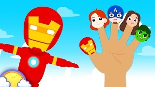Superhero Finger Family | Plus More Finger Family Songs for Kids | CheeriToons